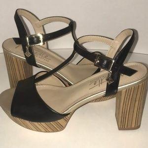 Nanette Lepore Venus 7 Wooden Platform Block Heels